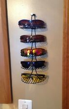 Wall Hanging Sunglasses Rack 5 Display Shelves, Storage Shelf BLACK Metal 😎🕶