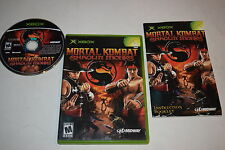 Mortal Kombat Shaolin Monks Microsoft Xbox Video Game Complete