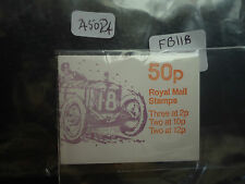 great britain 50p booklet 1980 FB 11b austin (10p LB) MNH