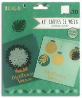 Toga Or de Bombay Kit 10 cartes de vœux, Papier, Vert, 13x13 cm