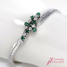 Bracciale - 18k/WG - 8 RO. smeraldi circa 0,50 CT + 8 diamanti circa 0,50 CT