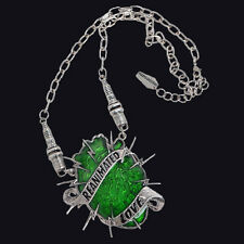 Kreepsville666 Reanimated Love Necklace. Gothic Horror oversized Pendant. Horror
