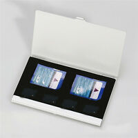 Silver Aluminum Memory Card Storage Case Box Holders For Micro SD Card 4TF