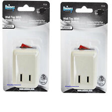 2 Pcs WALL TAP SWITCH Electrical Plug Outlet ON/OFF w/LED Power Indicator Light