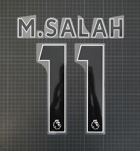M.SALAH #11 2017-2022 Player Size Premier League Black Nameset Plastic