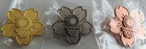 Collection 3 pcs Tokyo 2020 olympic cutout  pins  gold Silver bronce