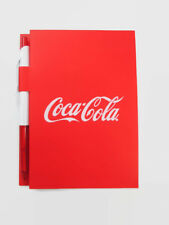 Coca-Cola Red Mini Notebook 100 Ruled Pages with Pen - BRAND NEW