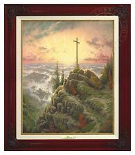"Thomas Kinkade - Sunrise – 20""x16"" Canvas Classic (Brandy Frame)"