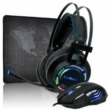 Gaming Headset 7.1 Deep Bass Stereo Game Headphone with Microphone Colorful LED