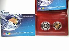 *** australia 2 coin monedas dólares kms 2008 International Year of Planet Earth