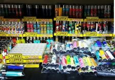 wholesale lot of 10 Clipper Lighter full plates of 48 clippers each mix colors