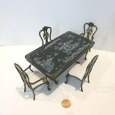 "BESPAQ DOLLHOUSE MINIATURE ""KINGSTON"" DINING TABLE W/4 CHAIRS  3490-3492 BBS"