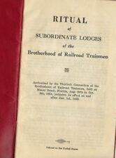 Ritual of Brotherhood of Railroad Trainmen, 1955  Lot 104
