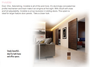 Invisible Sliding Door System - With inbuilt soft close and full upto 80kg