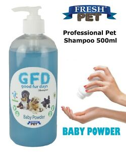 Fresh Pet Shampoo GFD Conditioning Dog Puppy Grooming - Baby Powder 500ml