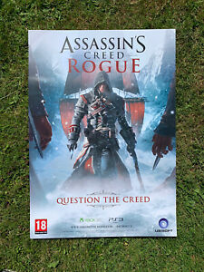 Assassins Creed Rogue Pre Release Poster (Rare Item, Double Sided, Size A2)