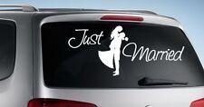 Autoaufkleber HOCHZEIT Aufkleber Just Married EHE Braut & Bräutigam Sticker 013