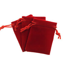 50pcs/Lot 5cmx7cm Red Gift Wrap Velvet Bag Jewelry Pouch Wedding Party
