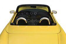 Fiat Barchetta Überrollbügel + Windschott  | Roadsterbügel | Chrombügel Windstop