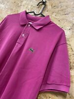 Vintage Lacoste Polo Mens Pink Short Sleeve Cotton Shirt Size 5 Large L