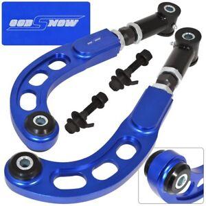 2005-2010 Scion Tc Racing Front Bolt Black + Rear Camber Arm Kit Alignment Blue
