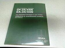 Okuma GP/GA-34/44N CNC Grinder Operation & Maintenance Manual 2ed.