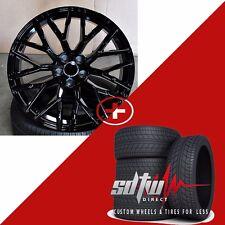 20 inch R8 V10 Style Black Wheels Tires Fits Audi A3 S3 A4 S4 A5 S5 Q3 Q5 TT