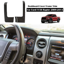 Carbon Fiber Dashboard Cover Decor Frame Trim Accessories for F150 Raptor 2009+
