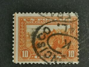 """U.S.A Stamps 1913 San Francisco Bay 10 Cents Scott """"400A    F/VF/MH Used."""
