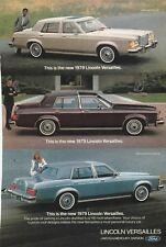 Original 1979 Lincoln Versailles Magazine Ad