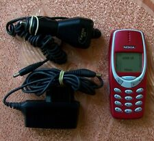 Vtg Classic Nokia 3310 Red Mobile phone Type NHM-5NX TOP CONDITION!  (3210 5110)