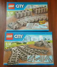 LEGO 7895 + 7499 LOT DE RAILS   ++ 100% NEUF NEW ++ FLEXIBLE TRACKS CITY TRAIN