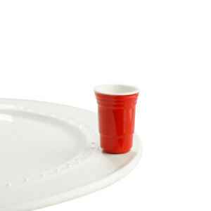 A144 Nora Fleming Mini: Fill Me Up, Red Cup FREE SHIPPING