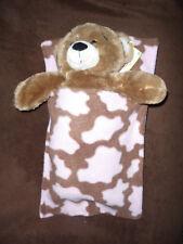 3301ed81a72 Build a bear teddy sleeping bag blanket pocket pink brown snuggle soft doll  bed