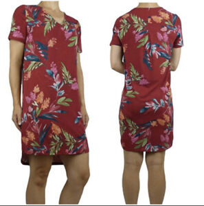Christian Siriano New York Women's Dress Red Floral Size XL Stretchy NWT