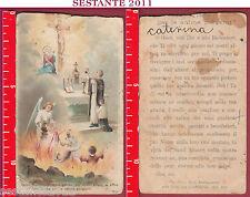 2433 SANTINO HOLY CARD PREGHIERA PER LE ANIME PURGANTI GESù REDENTORE 1055