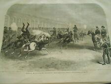 Gravure 1868 - Exercices de la Cavalerie Circassienne