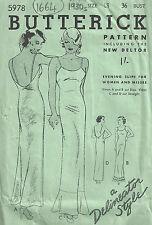 """1930s Vintage Sewing Pattern B36"""" SLIP (1664)"""
