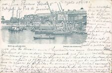 BRAZIL Rio de Janeiro Prace do Mercado litho PC 1903 - rare cancell.