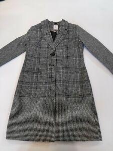 Black And White Check Coat Tu Size 10