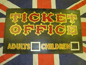 Vintage Ticket Office Sign - Water Chute Railway Station, Wicksteed Park