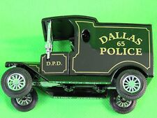 1999 Matchbox Dinky Vintage Police Cars Dallas Police 1912 Ford Model T DYM38019