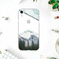 Geometric Mountains iPhone XR Case Plastic iPhone X 6s 7 8 Plus Silicone Cover