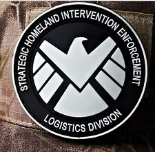 THE AVENGERS movie S.H.I.E.L.D logo PVC 3D Rubber   PATCH Glow In The Dark