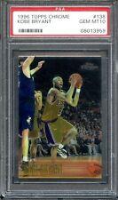 1996 Topps Chrome #138 Kobe Bryant RC PSA 10 Gem Mint Rookie Los Angeles Lakers