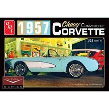 AMT 1/25 Cindy Lewis Coche Cultivo 1957 Chevy Corvette Convertible Azul # 1016