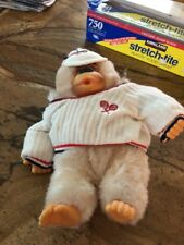 """Toy 10"""" White Gorilla Doll With Visor And Tennis Sweather"""