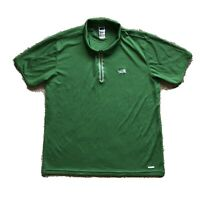 The North Face Vaporwick Workout Gym Polo Tee Shirt Green Mens Size XL