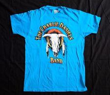 Vtg 1992 Charlie Daniels Band T-Shirt Large david corlew blue hat records