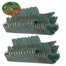 40 Pc Green Gentle Gardening Plant & Flower Lever Loop Gripper Clips Tool for Su